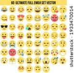 vector emoji pack complete with ... | Shutterstock .eps vector #1933470014