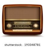 radio retro  realistic vector... | Shutterstock .eps vector #193348781