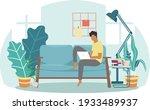 an university man study from... | Shutterstock .eps vector #1933489937