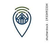 smart home icon logo vector...