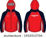 long sleeve hoodie jacket...   Shutterstock .eps vector #1933515704