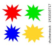 bursting shape speech bubbles... | Shutterstock .eps vector #1933535717