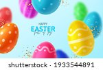 happy easter holiday banner.... | Shutterstock .eps vector #1933544891