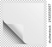 sheet of white paper with... | Shutterstock .eps vector #1933553057