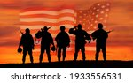 Usa Army Soldier With Nation...