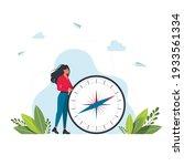 vector illustration of woman is ... | Shutterstock .eps vector #1933561334