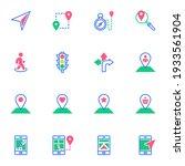 smartphone gps navigator flat... | Shutterstock .eps vector #1933561904