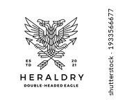 double headed eagle heraldry... | Shutterstock .eps vector #1933566677