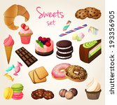 delicious sweets and fresh... | Shutterstock .eps vector #193356905
