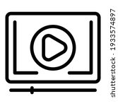 video play icon. outline video...