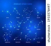 zodiac horoscope star signs... | Shutterstock .eps vector #1933578497