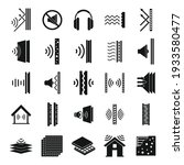 soundproofing icons set. simple ... | Shutterstock .eps vector #1933580477