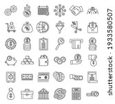 credit union bank icons set.... | Shutterstock .eps vector #1933580507