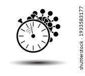 coronavirus molecule under...   Shutterstock .eps vector #1933583177