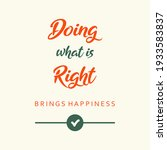 doing what is right brings... | Shutterstock .eps vector #1933583837