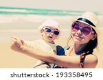 portrait of happy loving mother ... | Shutterstock . vector #193358495