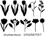 spring plants flowers leaves... | Shutterstock .eps vector #1933587557