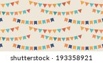 bunting party flags seamless... | Shutterstock .eps vector #193358921