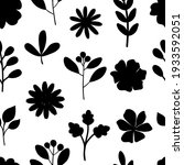 seamless pattern plants flowers ... | Shutterstock .eps vector #1933592051