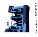 destroyed building  damaged... | Shutterstock .eps vector #1933595627