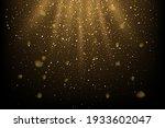 golden glitter and sparkles in... | Shutterstock .eps vector #1933602047