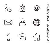 Contact Us Icon Set. Line Icon