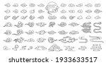 set of oriental cloud... | Shutterstock .eps vector #1933633517