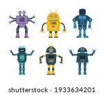 set of robot toys in various...   Shutterstock .eps vector #1933634201
