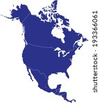highly detailed north america... | Shutterstock .eps vector #193366061