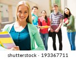 female student outdoors with... | Shutterstock . vector #193367711