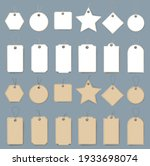 white and cartoon labels set... | Shutterstock .eps vector #1933698074