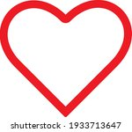 silhouette of red heart on... | Shutterstock .eps vector #1933713647