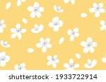 yellow spring background with... | Shutterstock .eps vector #1933722914