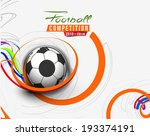 football event poster graphic... | Shutterstock .eps vector #193374191