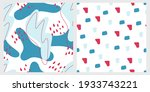 two seamless pattern in the... | Shutterstock .eps vector #1933743221