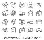 science icons set. included... | Shutterstock .eps vector #1933744544