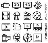 cinema vector icon set. movie ...   Shutterstock .eps vector #1933746044