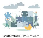 team metaphor people connecting ...   Shutterstock . vector #1933747874