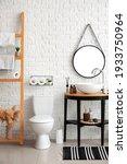 modern toilet bowl in interior... | Shutterstock . vector #1933750964