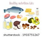 healthy fats products. diet...   Shutterstock .eps vector #1933751267