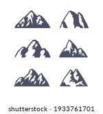 hand drawn mountain isolated.... | Shutterstock .eps vector #1933761701