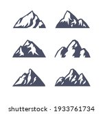 hand drawn mountain isolated.... | Shutterstock .eps vector #1933761734