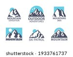 hand drawn mountain isolated.... | Shutterstock .eps vector #1933761737