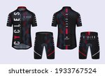 cycling jerseys mockup t shirt...   Shutterstock .eps vector #1933767524