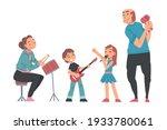 grandparents and grandchildren...   Shutterstock .eps vector #1933780061