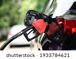 Refueling Car Fill With Petrol...