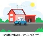 3d rendering electric car... | Shutterstock .eps vector #1933785794