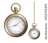 pocket gold vintage watch with...   Shutterstock .eps vector #1933795391