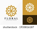 floral lotus geometric logo... | Shutterstock .eps vector #1933816187