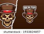 rockabilly skull e sport logo... | Shutterstock .eps vector #1933824857
